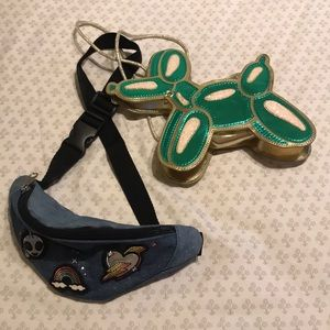 Balloon animal purse and patches fanny pack